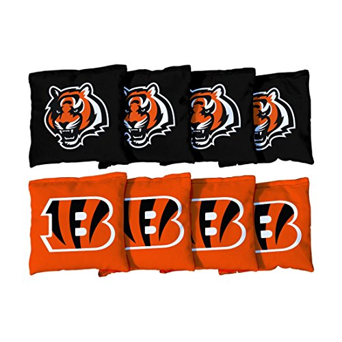 Victory Tailgate Cincinnati Bengals NFL Cornhole Game Bag Set (8 Bags Included, (Cornhole Bags Cincinnati)