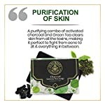LUXURIATE Naturally Beautiful Handmade Activated Charcoal and Green Tea Soap for Clear Skin Anti Acne and Tan Removal…