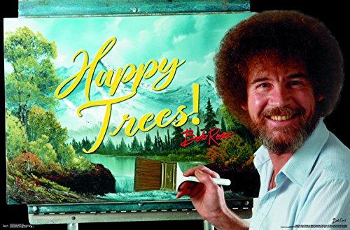 Trends International Bob Ross-Happy Trees Wall Poster, 22.375″ x 34″, Unframed Version