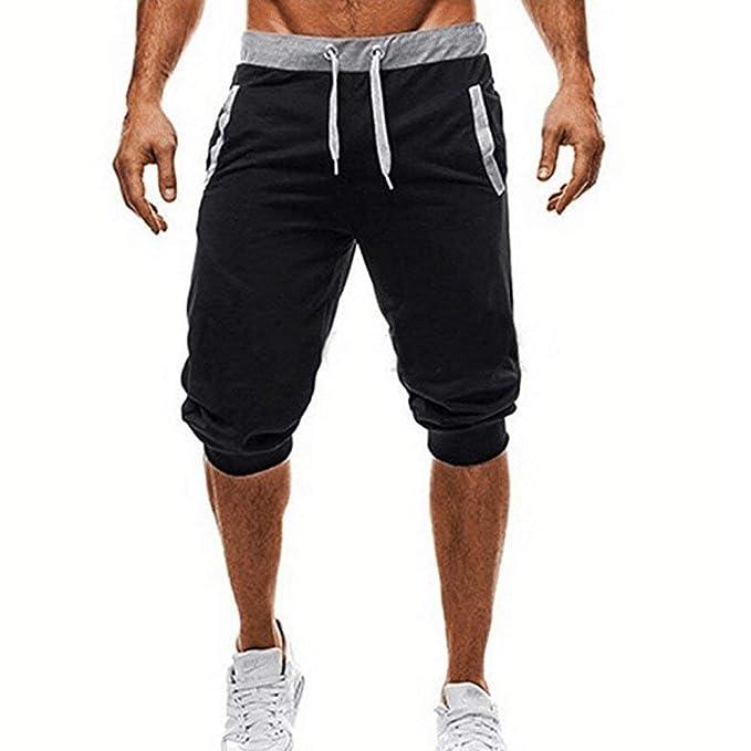 Riou Capri Hose Herren 34 Lange Sport Shorts Herren mit