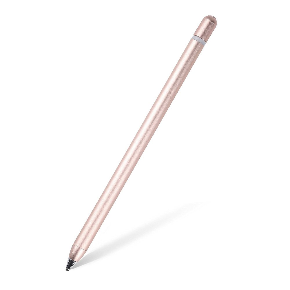 AMPLER Rechargeable Capacitive Stylus Digital Pen for Touchscreens, Touch Active Stylus Pen with 2.0 mm Fine Point Tip for iPad, iPhone, Good for Drawing, Writing - Rose Gold