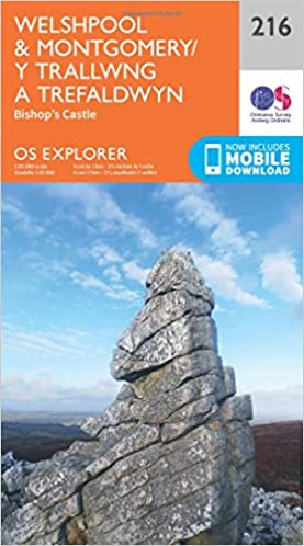 OS Explorer Map 216 Welshpool and Montgomery