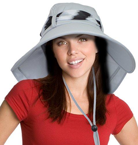 Sun Blocker Women's Sun Hat Large Brim Beach Travel Fishing Hat with Neck Flap by Sun Blocker (Image #3)