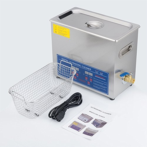 CO-Z 6L Stainless Steel Professional Ultrasonic Jewelry Denture Cleaner with Digital Timer & Heater by CO-Z (Image #6)