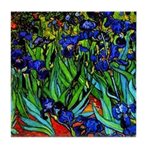 - CafePress - Van Gogh - Irises - Tile Coaster, Drink Coaster, Small Trivet