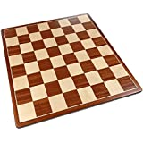 Pallas Rounded Corners Chess Board with Inlaid Mahogany Wood – Board Only – 17 Inch