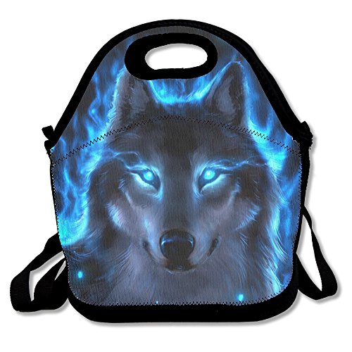 Silver Wolf Reusable Insulated Lunch Bag School Picnic Thermal Carrying Gourmet Lunchbox Lunch Tote Container Organizer For Women,Teens,Adults-Lunch Boxes For Outdoors,Work, Office, (Kids Baseball Lunch Box)