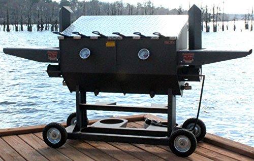 R&V Works FF6 17 Gallon Six Basket Portable Cajun Deep Fryer w/ Stand