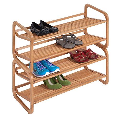 Honey-Can-Do SHO-01633 2-Tier Stackable Bamboo Shoe Shelf (Honey Can Do Shoe Organizer compare prices)