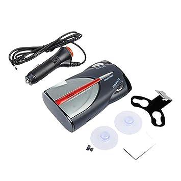 Detector de coche gorro rápido de voz Alerta de flash de luz de advertencia de detección de Grado 12V Auto 360 de lenguaje dual de conmutación: Amazon.es: ...