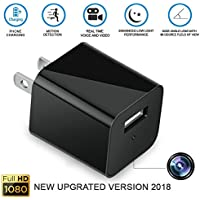 AnnBos Hidden Spy Security Nanny Camera 32GB included - 1080P HD USB Wall phones Charger Adapter Motion Detection Mini Video Recorder - Home/Office Surveillance - Premium built UPGRADED VERSION 2018