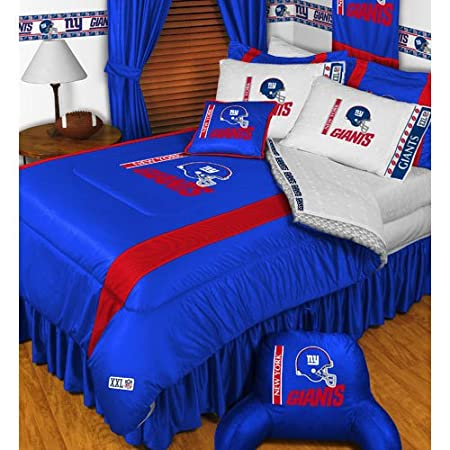 Nfl New York Giants 5 Pc Bed In A Bag Queen Bedding Set Amazonco