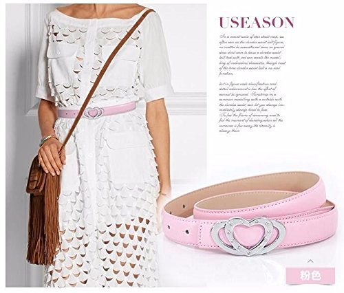 LONFENNENR New professional women's belt dress with a fine belt,105cm,Pink Father's Day Mother's Day