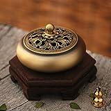 DW&HX [fine copper] incense aroma stove [antique] tea incense burners [decoration] gift-D