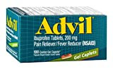 Advil Ibuprofen Tablets 200 mg Gel Caplets