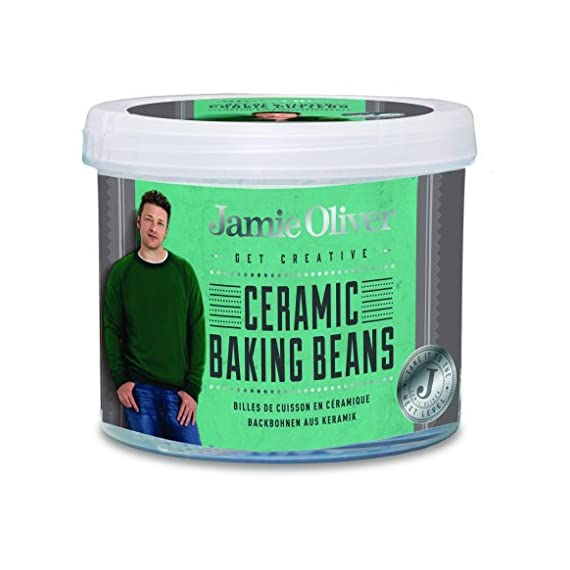 Jamie Oliver Cake Tester, Tool for Kitchen Baking 1 Essential for any home baker, ceramic baking beans for getting a crisp pastry base everytime Each bean conducts heat evenly to prevent air bubbles and shrinking of pastry base Individual beads are easy to place and arrange as needed