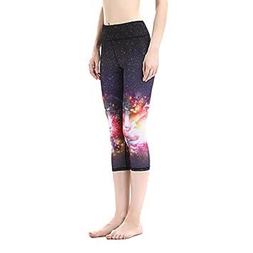 WYFC Pantalones de Yoga 3/4 Medias/Corsario Prendas de Abajo ...