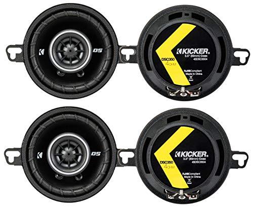 (4) Kicker 43DSC3504 3-1/2-Inch 160 Watt 2-Way Speakers)