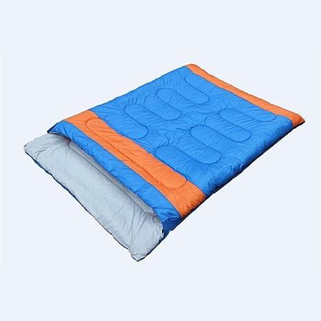 MiaoMiao MIAO - Saco de dormir doble de algodón para exterior, tamaño Azul
