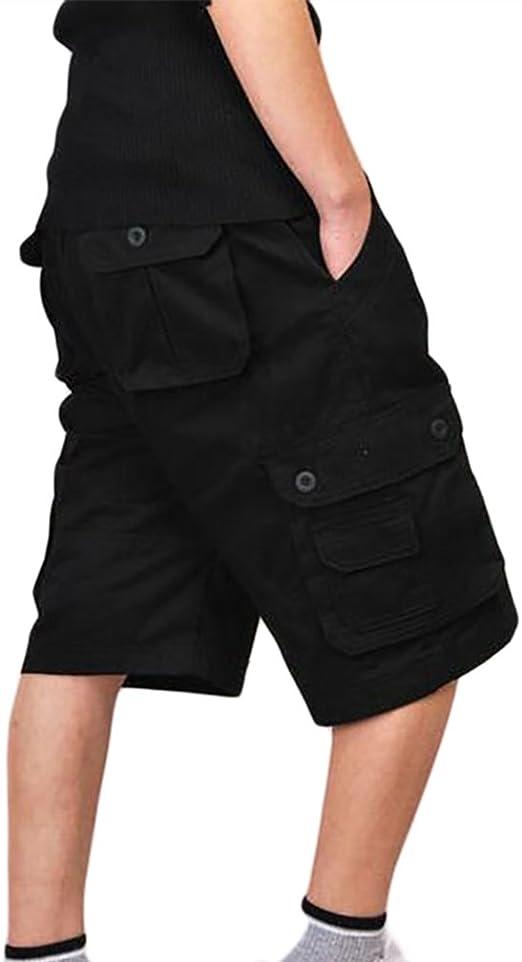 ZKOO Suelto Cortos Pantalones Cargo Hombre Bermuda Cortos con ...