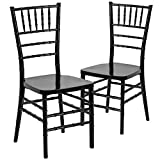 Flash Furniture 2 Pk. HERCULES PREMIUM Series Black Resin Stacking Chiavari Chair