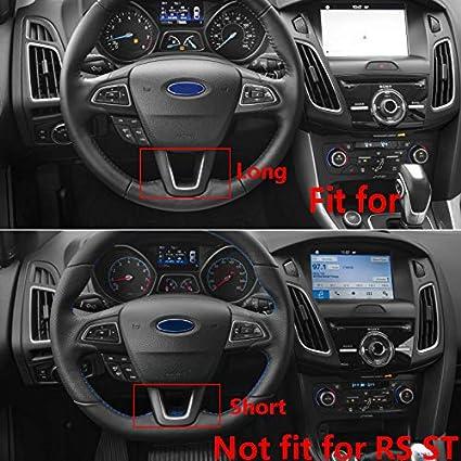 Color Name : Carbon 3pcs RHBPSJ ABS Chrome Carbon Fiber Steering Wheel Cover Sequin Trim Sticker For Ford Focus 3 Mk3 Kuga Escape 2012 2013 2014 2015 3Pcs//Set Car Interior Decoration