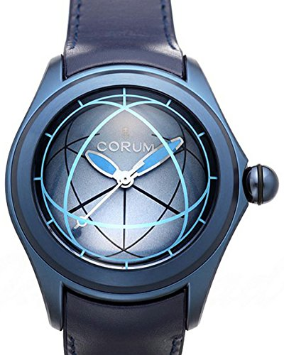 Corum Men's Heritage Bubble Blue Leather Band IP Steel Case Automatic Analog Watch 082.312.98/0063 OP02 R