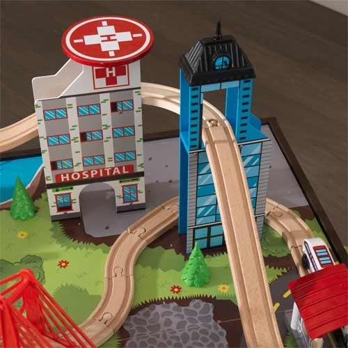 KidKraft Super Highway Train Set & Table Combo