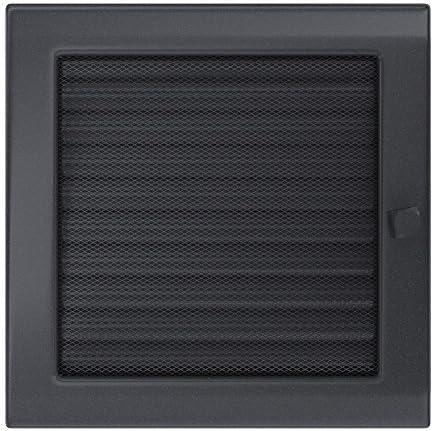 /Rejilla rejilla 170/x 370/mm con l/áminas Kratki Chimenea rejilla de aire Antracita Horno rejilla de ventilaci/ón de aire caliente/