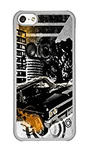 iPhone 5C Case,VUTTOO iPhone 5C Cover With Photo: City Life For Apple iPhone 5C - PC Transparent Hard Case