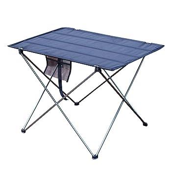 xiaoHan Mesa Plegable de Aluminio para Camping, Picnic, portátil ...