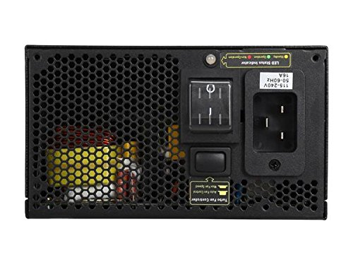 ROSEWILL Gaming 80 Plus Gold 1600W Power Supply / PSU, HERCULES Full Modular 1600 Watt 80 PLUS Gold Certified PSU with Silent 135mm Fan and Auto Fan Speed Control, Semi Modular Design with Extra-long Cables, 5 Year Warranty, SLI & CrossFire Ready
