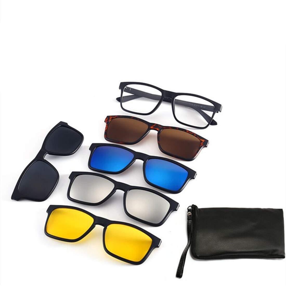 BAOYIT Men and Women Polarized Flat Glasses Five Glasses Set Night Vision Sunglasses Riding Glasses Set (Color : B) by BAOYIT