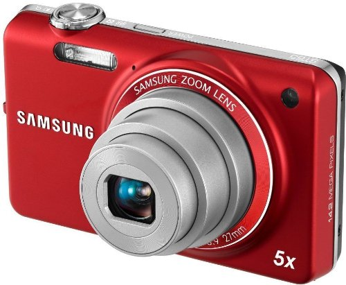 Samsung EC-ST65 Digital Camera with 14 MP and 5x Optical Zoom (Red) (International Model) by Samsung