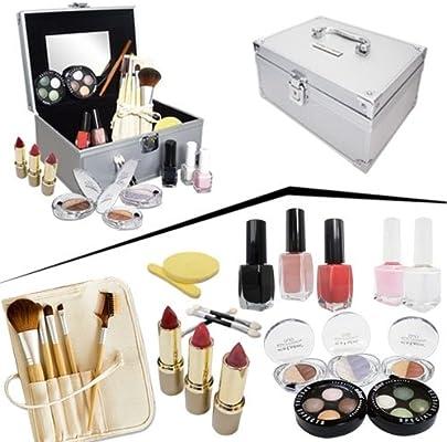 Estuche completo maquillaje día con maleta ALU: Amazon.es: Belleza