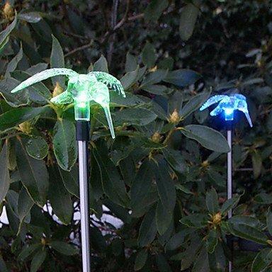 Set of 2 Garden Color Changing Solar Hummingbird Stake Lights by Garden Sunlight