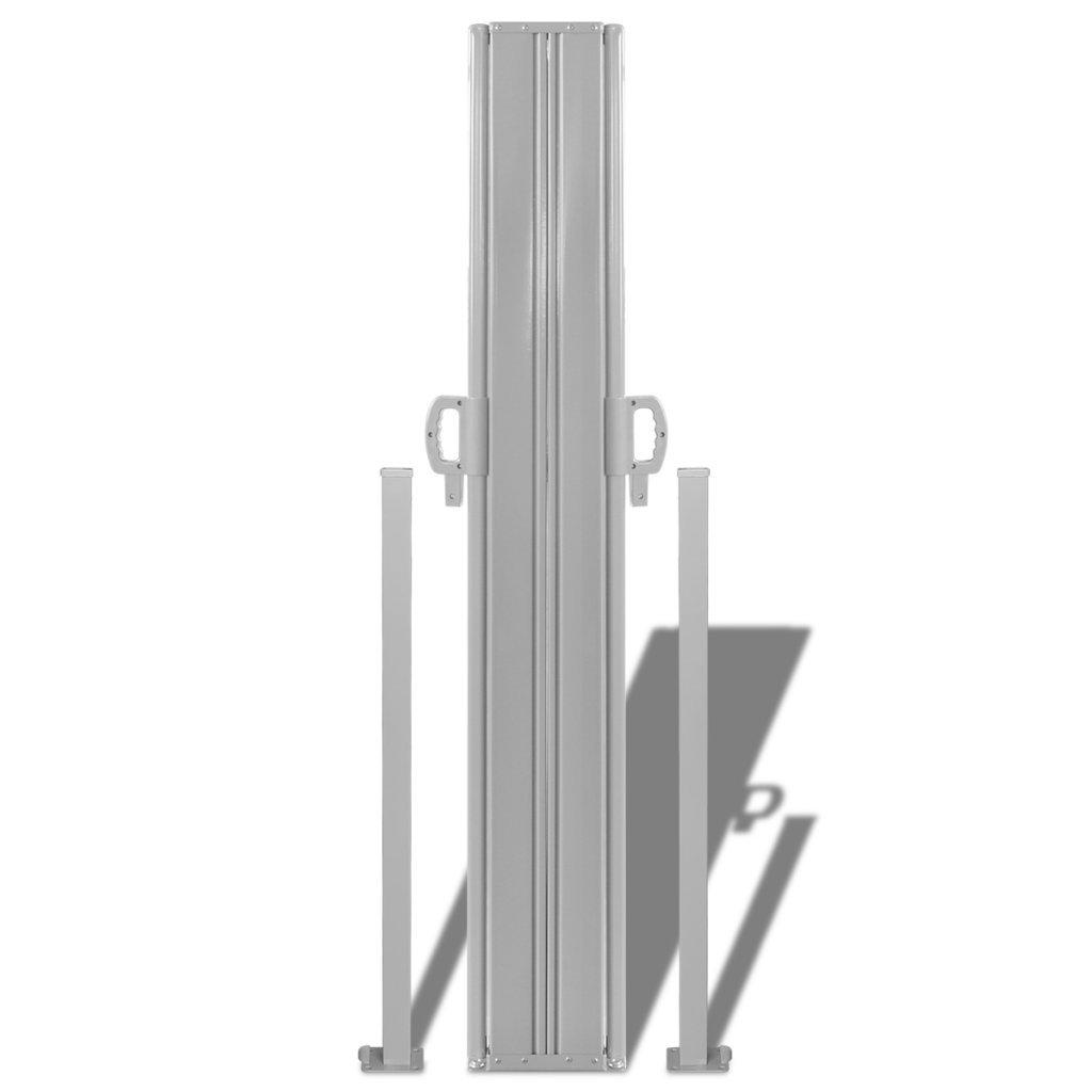 Festnight Tenda da Sole//paravento da Giardino Laterale Retrattile 160x600 cm Grigia