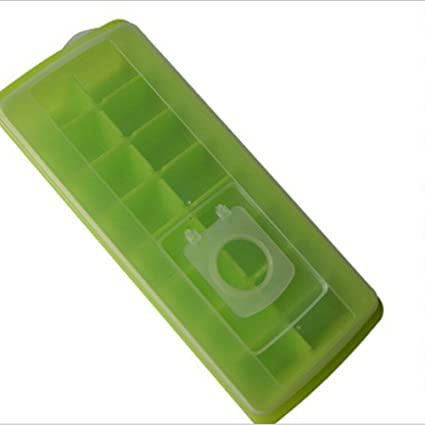 ounona 16 rejilla celosía de hielo moldes para cubitos de hielo con tapa