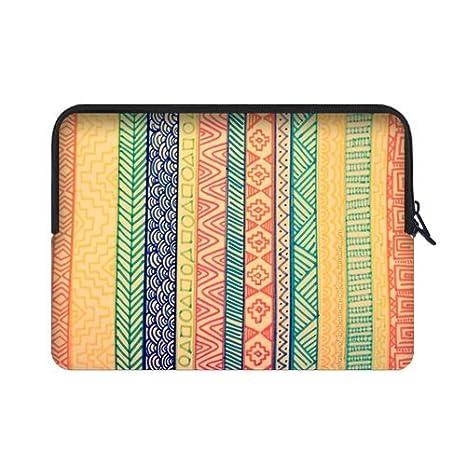 Azteca resistente al agua neopreno funda para portátil 17 17.3 pulgadas ordenador portátil bolsa caso cubierta