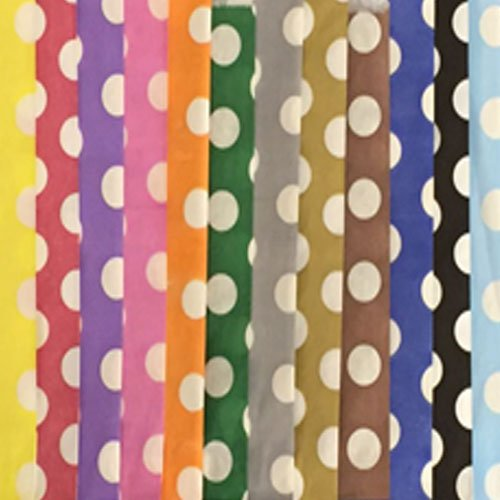 100 Mixed 5″ x 7″ Candy Polka Dots Paper Bags Sweet Counter Pick & Mix Sweet Coloured Party Bag – Ideal for Gift Shops, Wedding Favours, Candy Carts, Buffets JeeJaan®