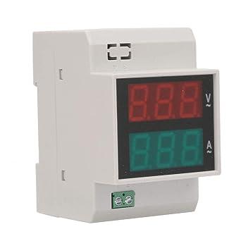 misuratore di tensione su guida DIN con fattore di potenza attivo AC 100A Sweo Multimetro digitale voltmetro misuratore di energia amperometro