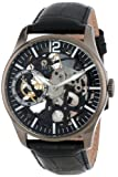 Invicta Men's 12406 Vintage Mechanical Black Dial Black Leather Watch