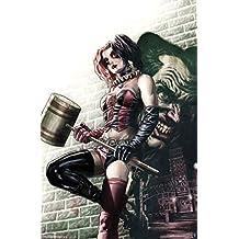 Harley Quinn Wall Comic Book Art Poster 22x34