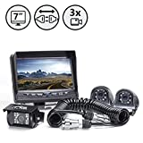 Cheap Backup Camera System with Side Cameras and Multi Camera Quick Connect Kit for Fifth Wheels, Trailers, Travel Trailers and Semi-Trucks | RVS-770616-2133 | Rear View Safety