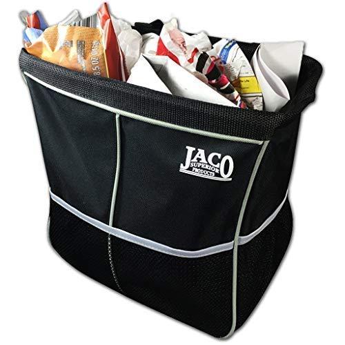 JACO TrashPro Car Trash Can - Premium 2-in-1 Leakproof Litter and Garbage Bag plus Organizer ()