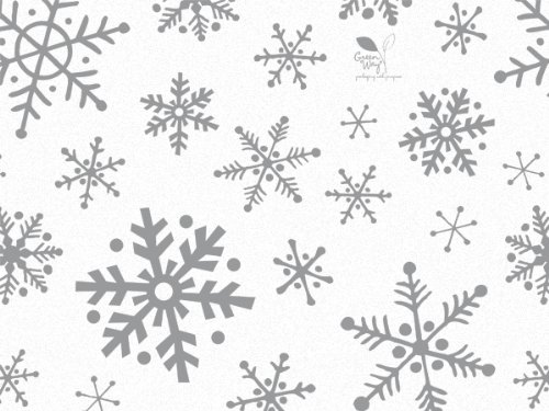 Gift WRAP Tissue Paper for Christmas, 24 Sheets, Large 20x30, Printed Decorative Tissue Paper for Gift Wrapping (Silver Snowflake)]()