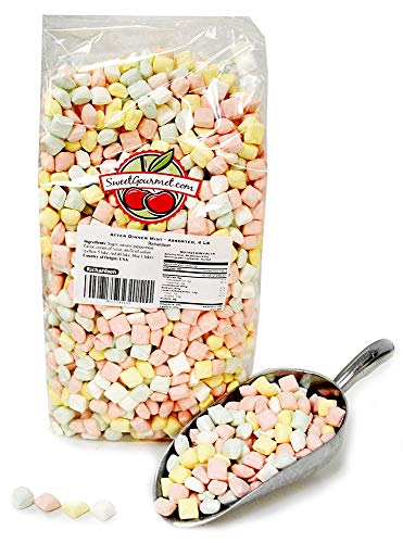 After Dinner Pastel Mints | Pillow Mints Candy | Dessert Bulk Mints | Kosher | Gluten Free | 4 pounds - Mints Pillow Candy