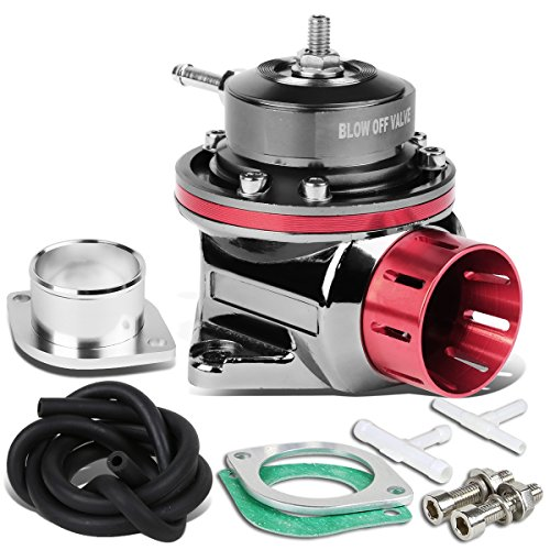 System Suv 4' (Type-FV 4'' Adjustable Blow Off Valve (BOV) with 2 Bolts Aluminum Body Up To 30 PSI (Pink))