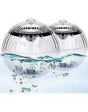 Punvot Undervattensljus, sol simmande pool LED-ljus, vatten flytande lampor färgbyte poolbelysning solboll för pool, trädgård, träd, inredning, dammdekoration