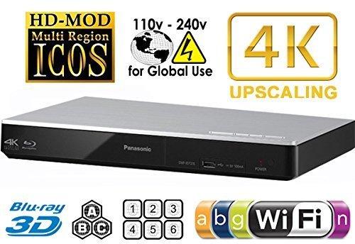 - Panasonic:   DMP-BDT270   4k Up-scaling Multi-format Blu-ray DVD Player Built-in 4K(UHD) Up-scaling